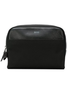 Hugo Boss logo print wash bag