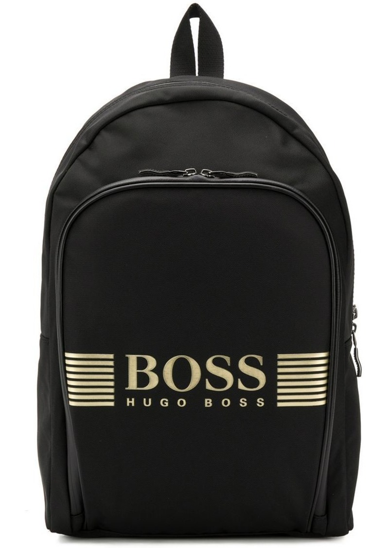 Hugo Boss logo printed backpack