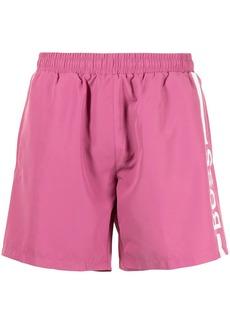 Hugo Boss logo-printed swim shorts