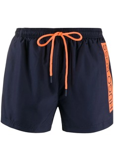 Hugo Boss logo stripe swim shorts