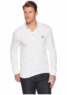 Hugo Boss Long Sleeve Polo with Logo Patch