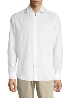 Hugo Boss Lukas Linen Button-Down Shirt