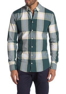 Hugo Boss Mabsoot Check Print Slim Fit Shirt