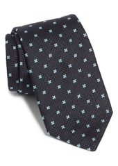Hugo Boss Medallion Flower Silk Tie