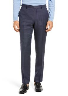 Hugo Boss Men's Boss Genius Microcheck Slim Fit Flat Front Wool Dress Pants