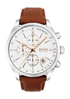 Hugo Boss Men's Boss Grand Prix Chronograph Leather Strap Watch