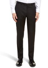 Hugo Boss Men's Boss Lenon Cyl Flat Front Straight Leg Solid Wool Dress Pants