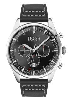 Hugo Boss Men's Boss Pioneer Chronograph Leather Strap Watch