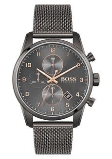 Hugo Boss Men's Boss Skymaster Chronograph Mesh Strap Watch