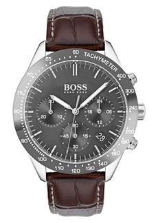 Hugo Boss Men's Boss Talent Chronograph Leather Strap Watch