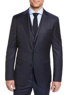 Hugo Boss Men's Check Three-Piece Suit