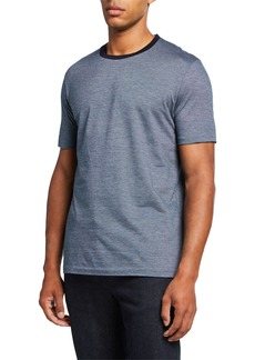 Hugo Boss Men's Cotton Contrast-Collar T-Shirt