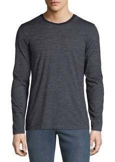 Hugo Boss Men's Heathered Long-Sleeve T-Shirt