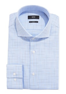 Hugo Boss Men's Houndstooth Plaid Slim-Fit Dress Shirt