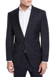 Hugo Boss Men's Huge Genius Check Slim-Fit Two-Piece Wool Suit