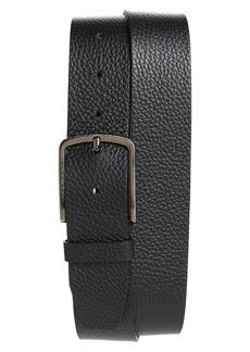 Hugo Boss Men's Hugo Sander Pebbled Leather Belt