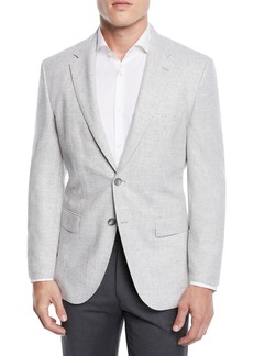 Hugo Boss Men's Jestor Wool-Cotton Jacket with Elbow Patches