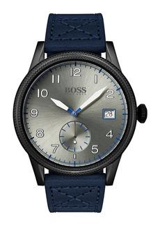 Hugo Boss Men's Legacy Leather Strap Watch, 44mm