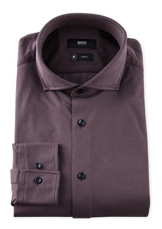 Hugo Boss Men's Micro-Pattern Slim-Fit Performance Sport Shirt