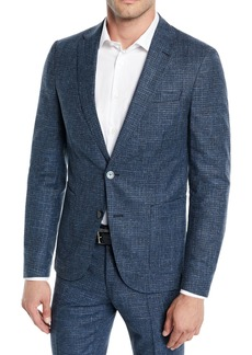 Hugo Boss Men's Micro-Weave Wool/Cotton Two-Piece Suit