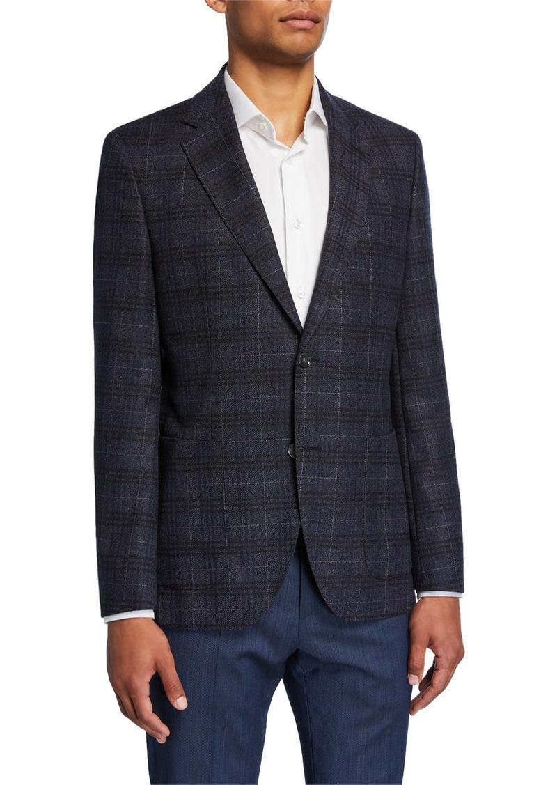 Hugo Boss Men's Plaid Regular-Fit Two-Button Jacket