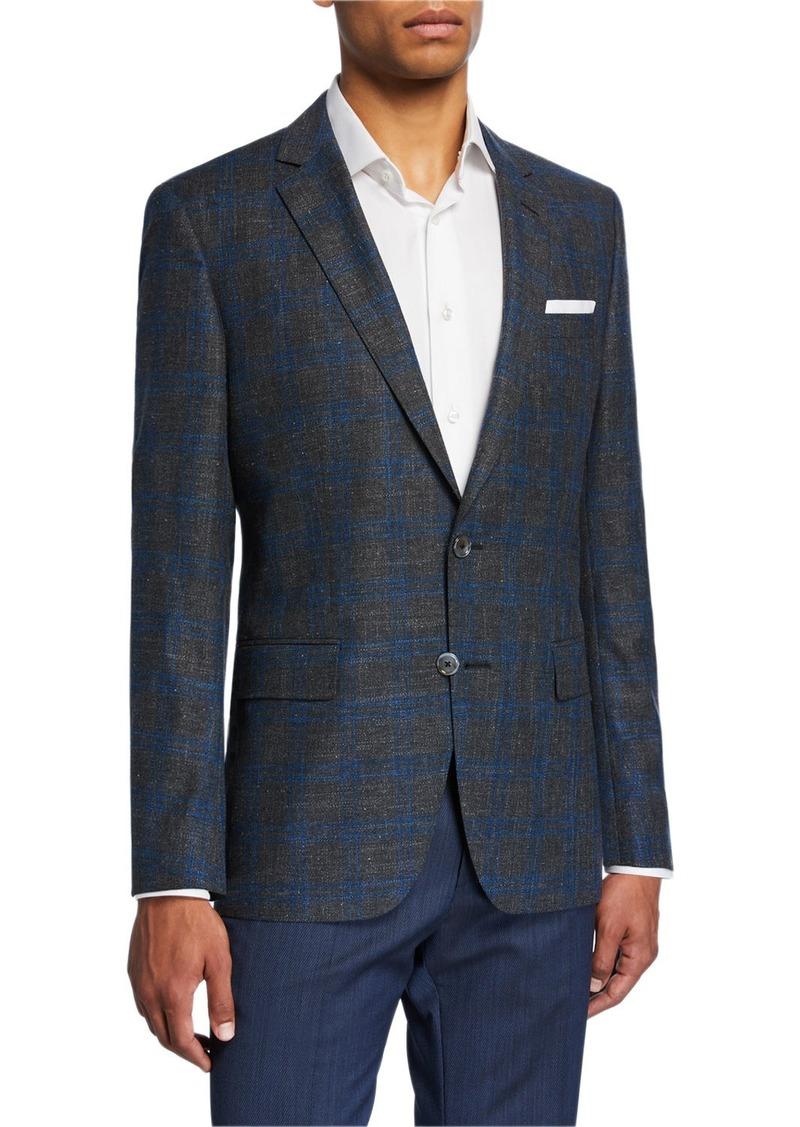 Hugo Boss Men's Plaid Slim-Fit Two-Button Jacket