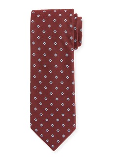 Hugo Boss Men's Silk-Blend Diamond Pattern Tie