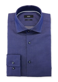 Hugo Boss Men's Slim Fit Diamond Cotton Dress Shirt