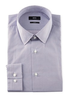 Hugo Boss Men's Slim-Fit Diamond-Pattern Sport Shirt