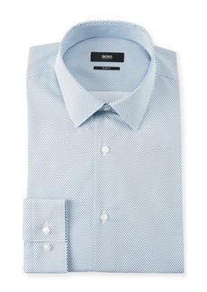 Hugo Boss Men's Slim Fit Pindot Cotton Dress Shirt