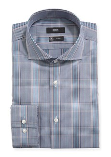 Hugo Boss Men's Slim-Fit Plaid Dress Shirt