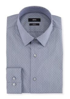 Hugo Boss Men's Slim Fit Stretch Dot Cotton-Blend Dress Shirt