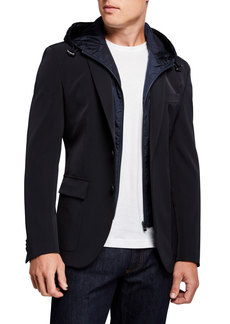 Hugo Boss Men's Slim-Fit Technical Sport Jacket with Bib Hood