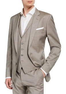 Hugo Boss Men's Slim-Fit Three-Piece Wool Suit