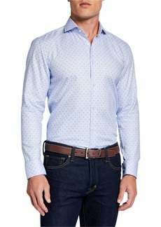 Hugo Boss Men's Slim-Fit Travel  Diamond Sport Shirt