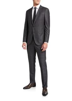 Hugo Boss Men's Slim Fit Wool Check Two-Piece Suit