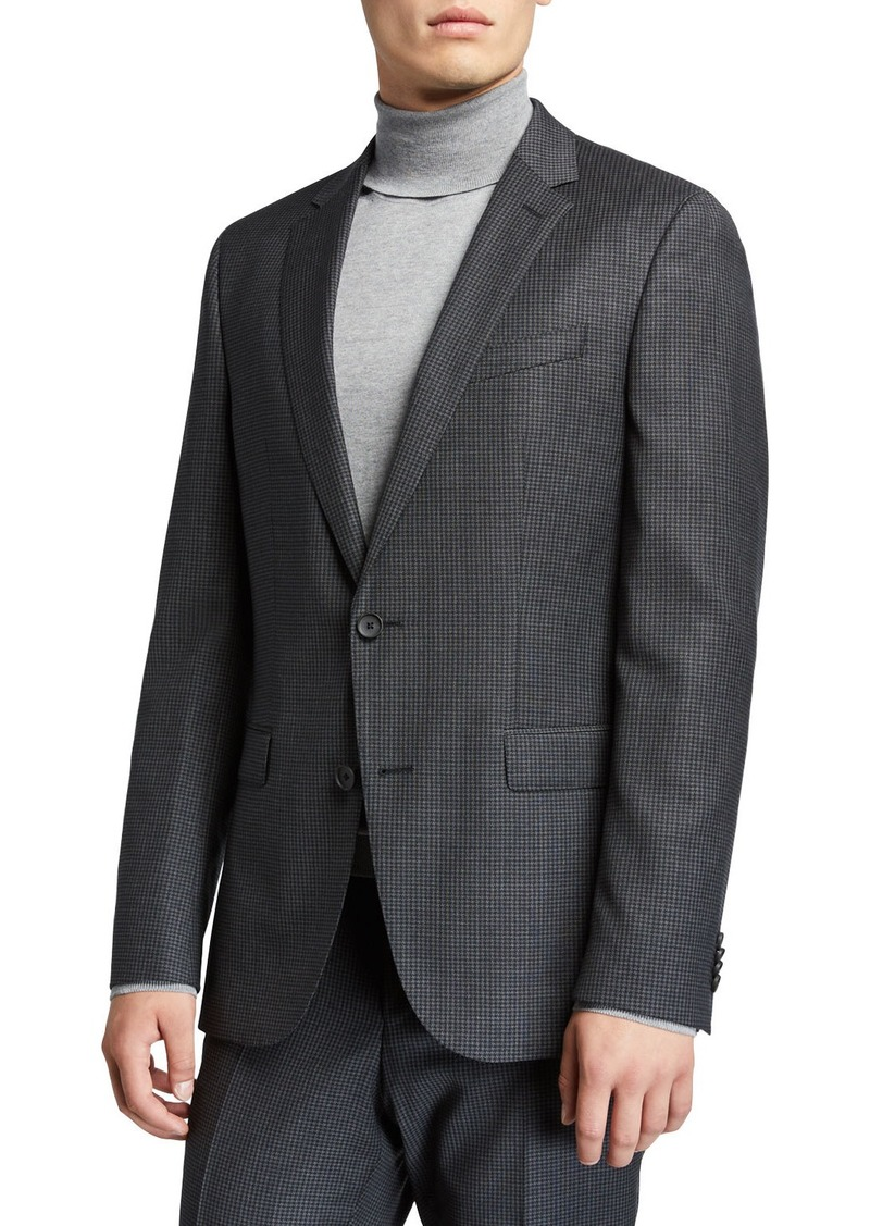 Hugo Boss Men's Slim-Fit Wool Houndstooth Two-Piece Suit