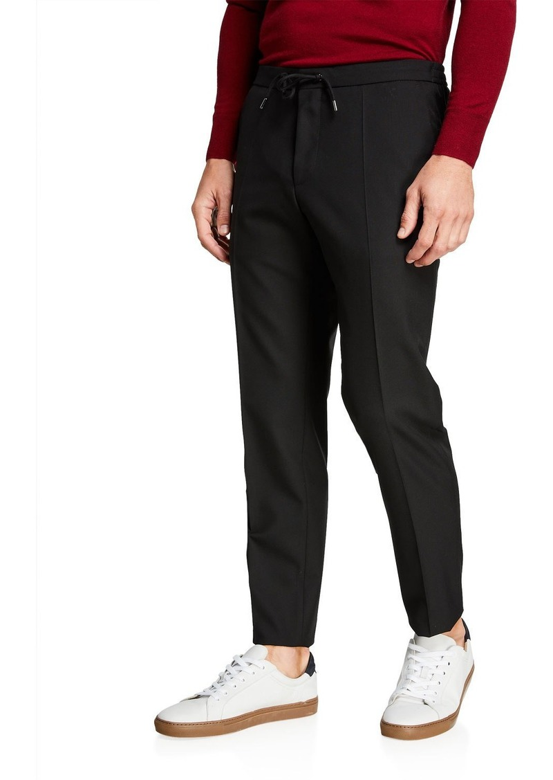 Hugo Boss Men's Slim-Fit Wool Jogger Trousers