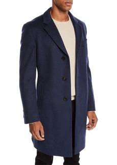 Hugo Boss Men's Slim-Fit Wool Top Coat