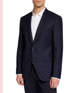 Hugo Boss Men's Slim Micro-Dot Tailored Wool Jacket