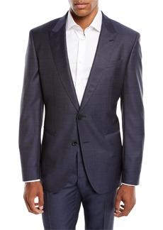 Hugo Boss Men's Solid Peak-Lapel Two-Piece Wool/Silk Suit