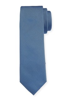 Hugo Boss Men's Solid Silk Tie  Blue