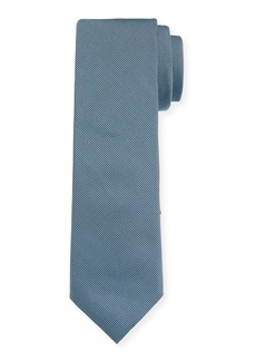 Hugo Boss Men's Solid Silk Tie  Teal