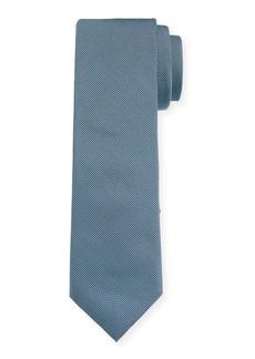 Hugo Boss Men's Solid Silk Tie  Teal