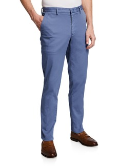 Hugo Boss Men's Solid Stretch-Cotton Trousers