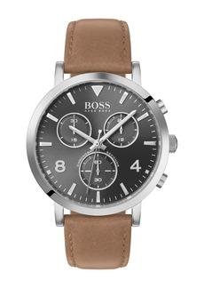 Hugo Boss Men's Spirit Leather Strap Watch, 41mm