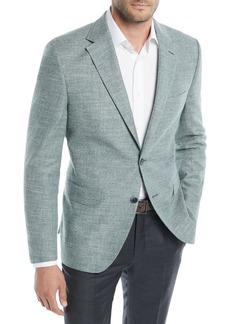Hugo Boss Men's Textured Solid Cotton Jacket