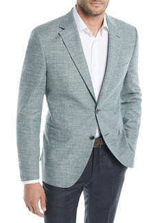 Hugo Boss Men's Textured Solid Cotton Jacket