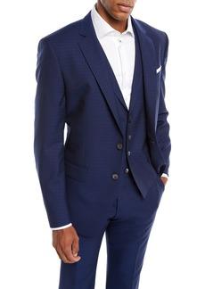 Hugo Boss Men's Tonal Grid Wool Three-Piece Suit
