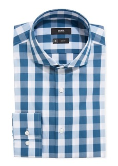 Hugo Boss Men's Travel Check Pattern Dress Shirt